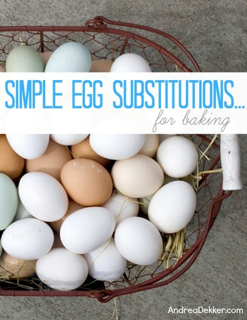 simple egg substitutions