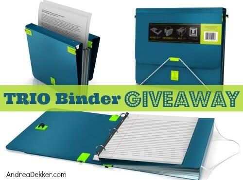 trio binder giveaway