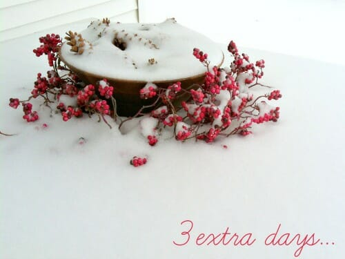 3 extra days