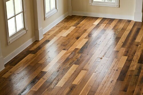 You asked i answered our reclaimed barn wood floors for Different colors of hardwood floors