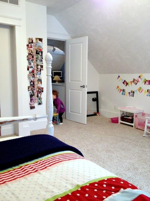 looking out into the play room