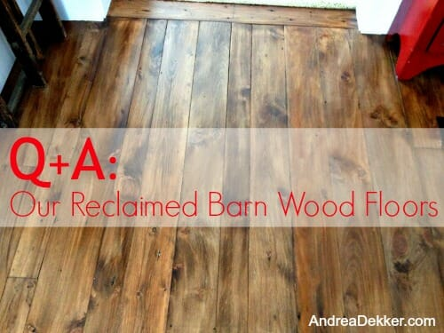 our reclaimed barn wood floors