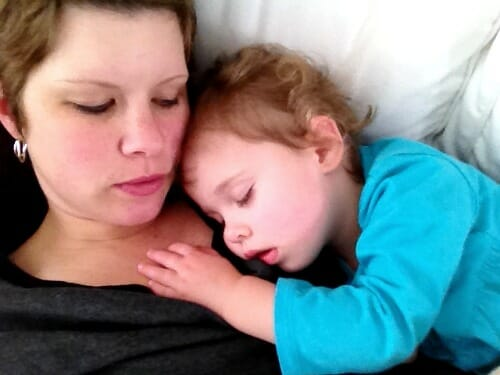 snoozing with Nora