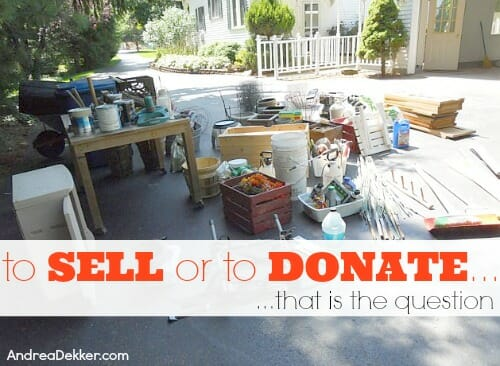 to sell or to donate
