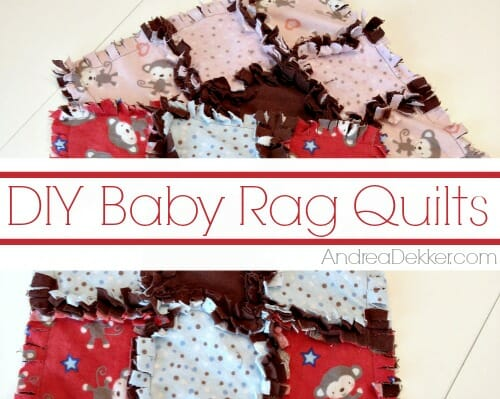 DIY baby rag quilts