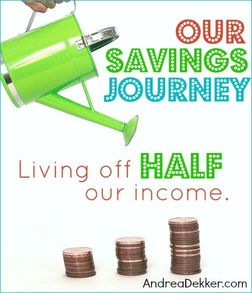 our savings journey