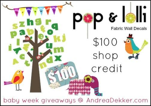 Baby week giveaway 11 100 pop lolli shop credit andrea dekker pop and lolli logo gumiabroncs Images