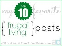 frugal living thumb