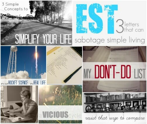 simple living Collage