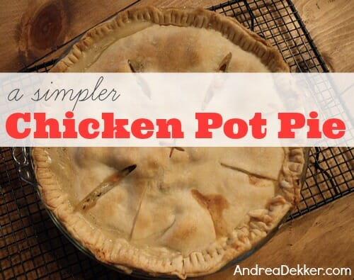 simpler chicken pot pie