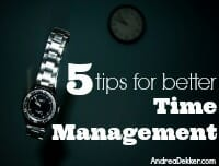 time management thumb