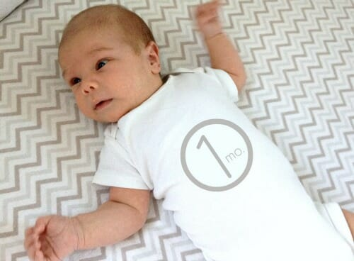 simon at one month