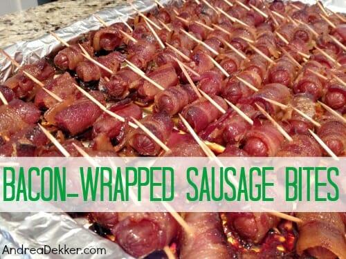 bacon wrapped sausage bites