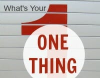 one thing thumb