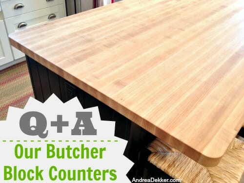 our butcher block counters