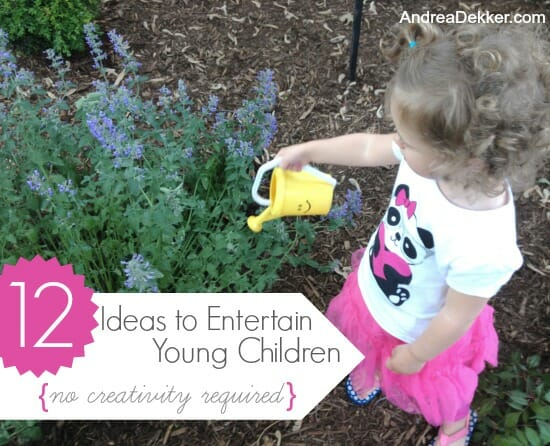12 ideas to entertain young children