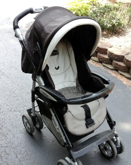 clean stroller