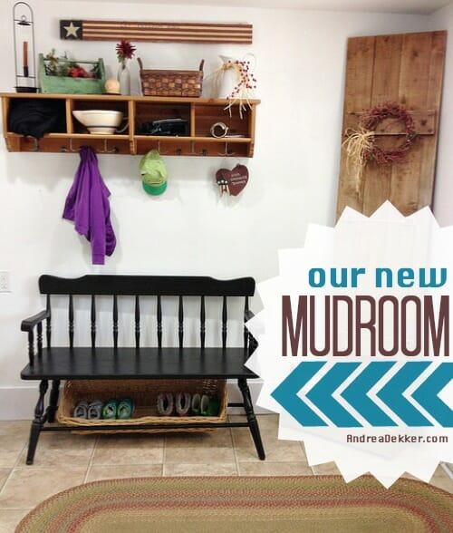 our new mudroom