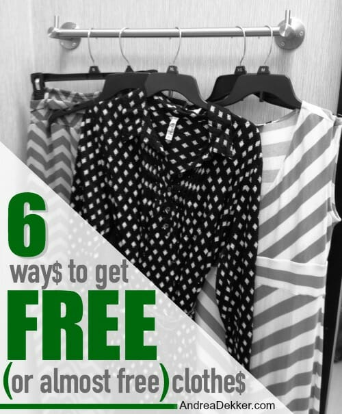 6 ways to get free clothes