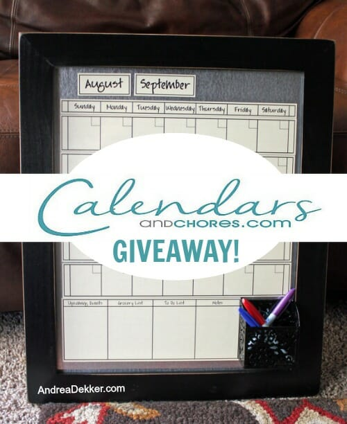 calendars and chores giveaway