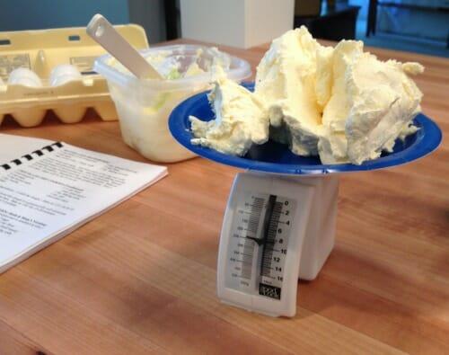 measuring butter