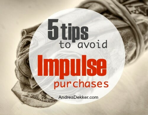 tips to avoid impulse purchases