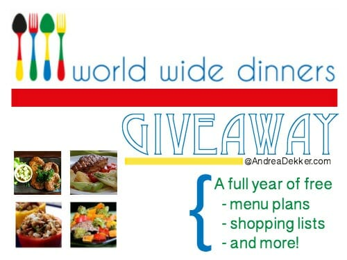 world wide dinners giveaway