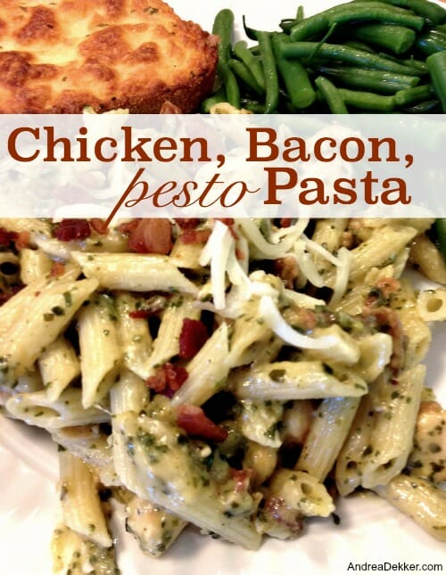 chicken bacon pesto pasta