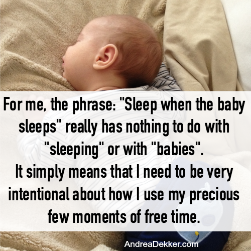 sleep when the baby sleeps