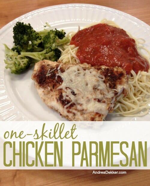 One-Skillet Chicken Parmesan - Andrea Dekker