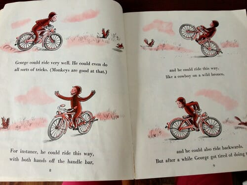 curious george rids a bike