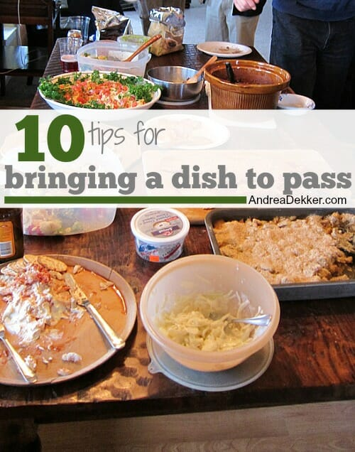 10 tips for bringing a dish to pass