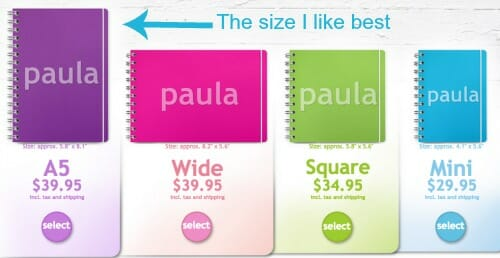 planner size