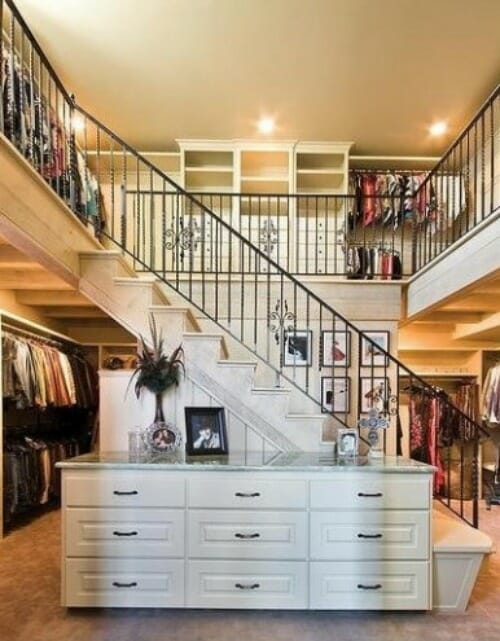two-story closet