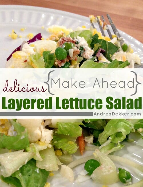 make-ahead layered lettuce salad