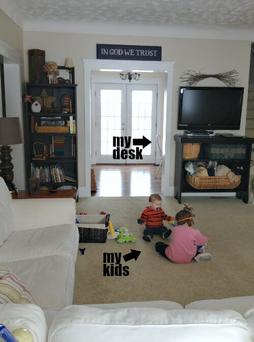 playing in the living room