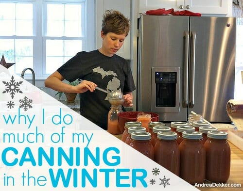 canning in the winter