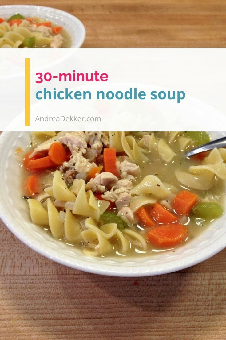homemade chicken noodle soup via @andreadekker