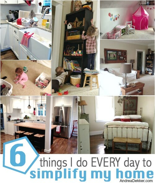 6 things to simplify my home