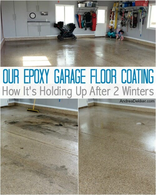Our Epoxy Garage Floor Coating How It S Holding Up After 2 Winters