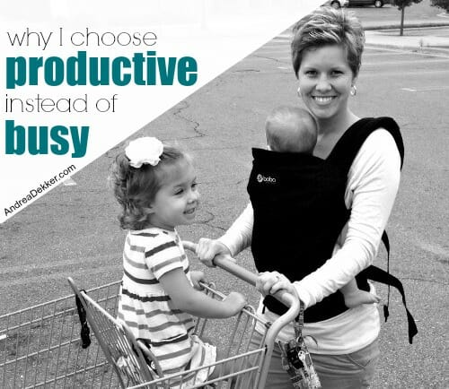 productive instead of busy