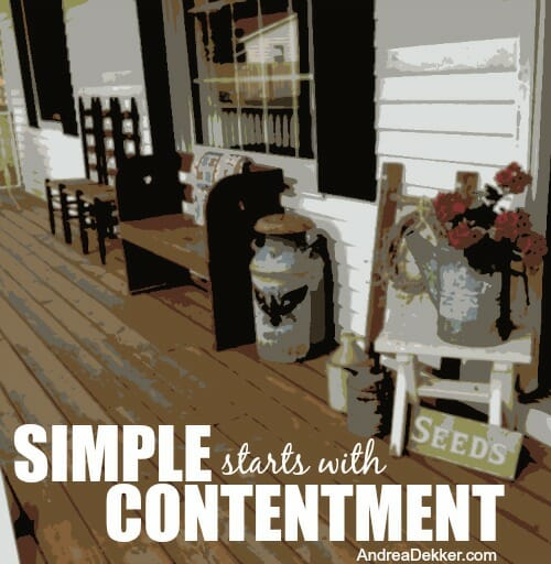 simple starts with contentment