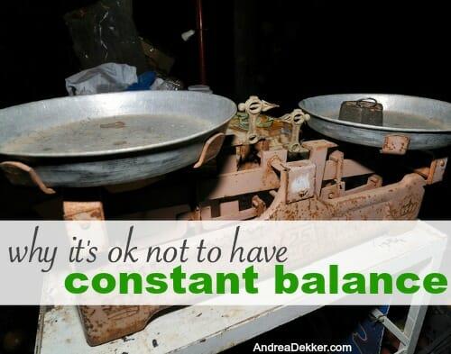 constantbalance