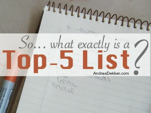 what is a top 5 list