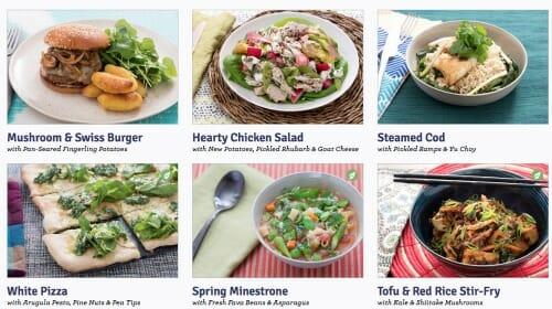 blue apron simple meal plan