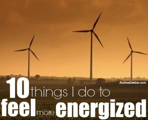 feel more energized