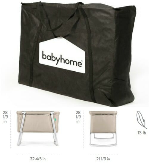 babyhome travel cot