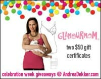Glamourmom Giveaway on andreadekker.com