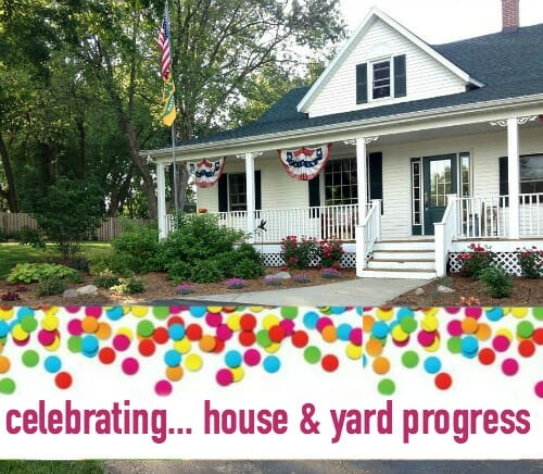 house and yard progress