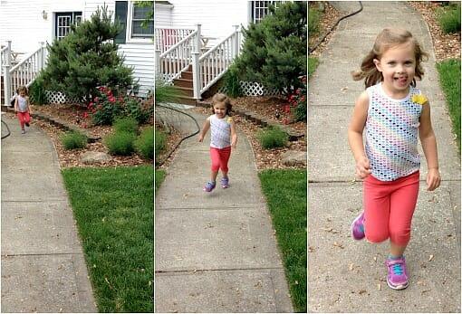 nora running fast